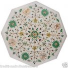 """12"""" Marble Top Side Table Top Paua Shell Handmade Inlay Floral Pietra Dura Gifts"""