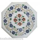 "12"" Marble Top Side Table Top Coffee Top Handmade Inlay Floral Pietra Dura Gifts"