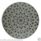 "24"" Marble Dining Table Top Paua Shell Mughal Art Gemstones Inlaid Handmade Arts"
