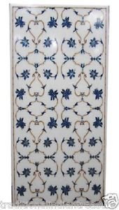 2.5'x6' Marble Dining Lapis Lazuli Dining Floral Table Top Marquetry Pietra Dura
