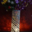 "10"" Marble Soapstone Flower Vase Home Decor Pot Cylindrical Shape Home Decor Art"