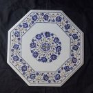 "18"" Marble Marquetry Lapis Lazuli Coffee Dining Table Top Paua Shell Home Decor"