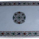 4'x2' White Large Marble Malachite Mosaic Dining Coffee Table Top Home Decor