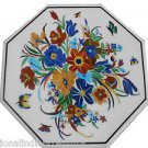 """24"""" White Marble Dining Coffee Table Top Marquetry Mosaic Home Decor butterflies"""