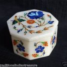 Marble Jewelry Lapis Lazuli  Art Trinket Box Pietra Dura Mosaic Home Decor Gifts