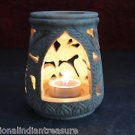 "4"" Marble Tea Light Candle Holder Handcarved Home Decor With Warmer Arts Gifts"
