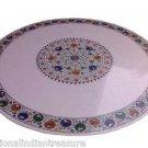 4' Marble Dining Table Top Garden Table Top Pietra Dura Art Handmade Home Decor
