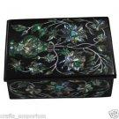 """3""""x4"""" Marble Jewelry Box Onyx Inlaid Decorative Box Finest Quality Pietra Dura"""