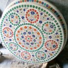 "36"" Marble Round Dining Table Top Pietra Dura Floral Inlaid Handmade Gifts"