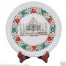 "12""x 12"" Marble Serving Dish Plate Mosaic Tajmahal Inlay Pietradure Home Decor"