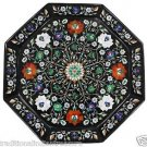"16""x 16"" Marble Serving Tray Plate Mosaic Pietradure Floral Inlay Ktichen Decor"