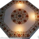 "30"" Marble Dining Table Top Hakik Furniture Handmade Inlaid Pietra Dura Decor"