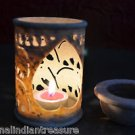 """4"""" Marble Tea Light Candle Holder Elephant Handcarved Home Decor With Warmer Art"""