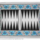 """12""""x18"""" Marble Backgammon Board Turquoise Handmade Design Marquetry Home Decor"""