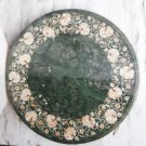 "24"" Green Marble Table Top Inlaid Mosaic Mother of Pearl Decor New"