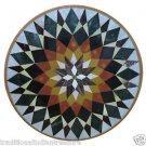 2.5' Italian Marble Top Garden Table Top Handmade Marquetry Inlaid Home Decor