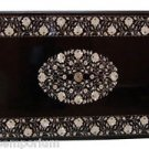 Size 2'x3' Black Marble Dining Center Table Top Rare Inlaid Gem Mosaic Art Decor