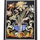 Size 2'x3' Black Marble Coffee Center Table Top Rare Inlay Marquetry Mosaic Deco