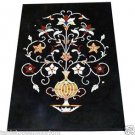 Size 2'x3' Black Marble Dining Center Coffee Table Top Rare Inlay Mosaic Decor