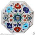 Size 1'x1' Marble Center Coffee Table Top Rare Lapis Pietradura Art Decor