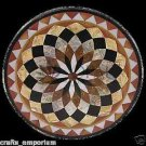 """24"""" Handmade Black Marble Table Top Coffee Inlaid Marquetry Home Decor Gifts Art"""