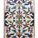Size 4'x2' Marble Dining Table Top Multi Gem Inlaid Pietradure Decor Furniture