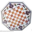 """Size 30""""x30"""" Marble Coffee Chess Table Top Hakik Inlay Marquetry Art Garden Deco"""