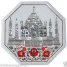 "Size 18""x18"" Marble Side Coffee Table Top Rare Stone Tajmahal Mosaic Home Decor"
