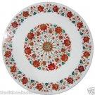 Size 2'x2' Marble Corner Coffee Table Top Semi Hakik Marquetry Mosaic Decor