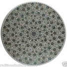 Size 3'x3' Marble Dining Table Top Pauashell Mosaic Floral Home Decor