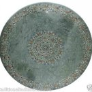 Size 2'x2' Marble Corner Coffee Table Top Pauashell Gems Mosaic Floral Decor