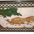 """Size 30""""x48"""" Marble Dining Coffee Center Table Top Inlaid Lion Mosaic Art Decor"""
