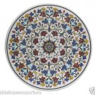 """Size 42""""x42"""" Marble Dining Table Top Semi Inlay Mosaic Decor Christmas Arts"""