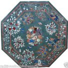 Size 2'x2' Marble Corner Coffee Table Top Rare Inlay Pietradure Mosaic Decor