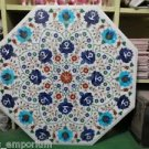 """24"""" Round Marble Dining Lapis Turquoise Floral Arts Table Top Coffee Decor Gifts"""
