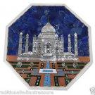 "Size 18'x18"" Marble End Coffee Table Top Rare Tajmahal Mosaic Inlaid Decor"