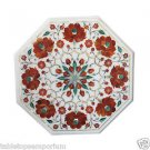 "Size 15""x15"" Marble Handmade Side Table Top Pietra Dura Hakik Home Decor Arts"