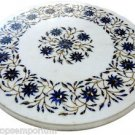 """Size 18""""x18"""" Marble End Coffee Table Top Inlay Marquetry Mosaic Floral Decor"""