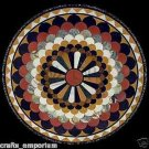"24"" Handmade Black Marble Coffee Table Top Home Decor Opal Pattern Arts New Gift"