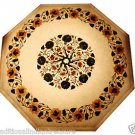 "Size 18""x18"" Marble End Coffee Table Top Rare Marquetry Mosaic Inlaid Decor"