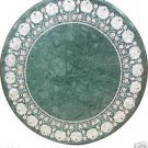 """Size 30""""x30"""" Marble Round Dining Center Table Top Inlay Marquetry Mosaic Decor"""
