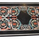 Size 2.5'x5' Marble Dining Table Top Pietradure Inlay Rare Mosaic Deco Furniture