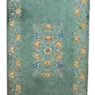 Size 3'x6' Marble Dining Table Top Hakik Inlay Gemstone Handicraft Decor