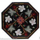 """Size 18""""x18"""" Marble Coffee Table Top Pietradure Mosaic Inlay Floral Art Decor"""