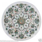 Size 1'x1' Marble End Coffee Table Top Inlay Pauashell Mosaic Floral Decor