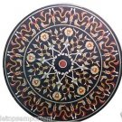 """Size 36""""x36"""" Marble Coffee Side Table Top Real Inlay Marquetry Art Outdoor Decor"""