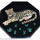 Size 2'x2' Marble Corner Coffee Table Top Inlay Tiger Mosaic Art Home Decor