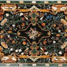 Size 4'x2.5' Marble Dining Center Table Top Rare Pietra dura Mosaic Inlay Home