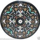 "Size 36""x36"" Marble Coffee Table Top Pietradure Gems Mosaic Inlay Art Handamde"