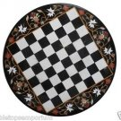 "Size 30""x30"" Marble Coffee Chess Center Table Top Marquetry Mosaic Inlay Decor"